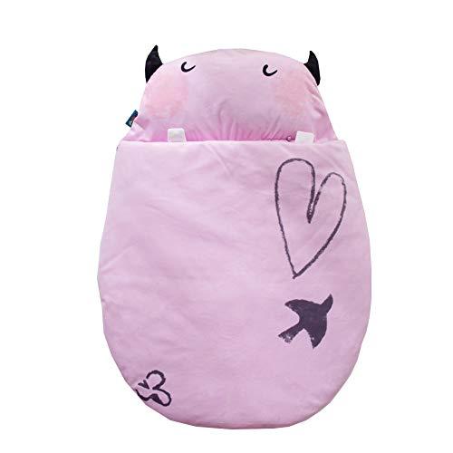 JSIHENA Gigoteuse Bébé Manches Grenouillère en Coton Enfant Automne et Hiver Sac de Couchage bébé Mignon épaississement câlin Coton Anti-Kick,Pink