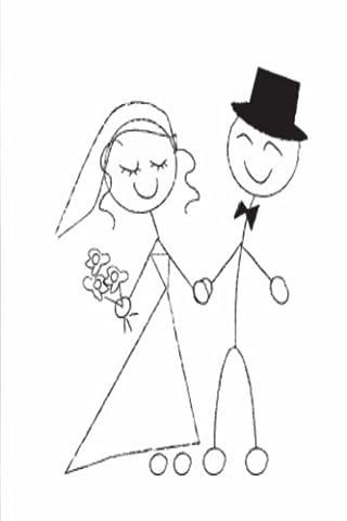 Wedding Journal Bride Groom Stick Figure Sketch: (Notebook, Diary, Blank Book) (Wedding Journals Notebooks