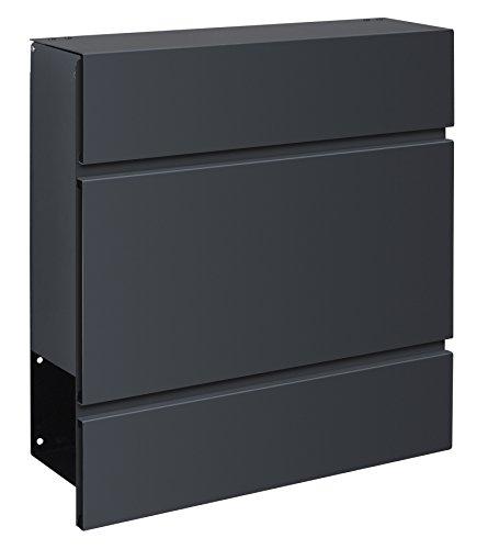 Frabox LENS Briefkasten Anthrazitgrau Design - 2