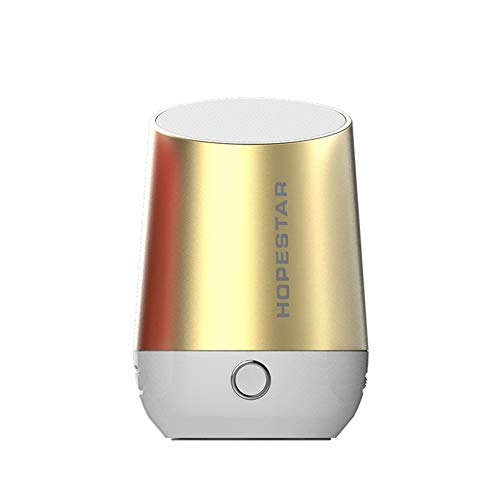 Denret3rgu HOPESTAR-H22 Mini portátil inalámbrico Bluetooth estéreo Bass Music Box Speaker Golden