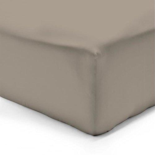 Vision Spannbettlaken Taupe–140x 190cm–100% Baumwolle