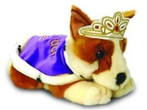 Keel Toys 30cm Corgi with Crown and Cape by Keel Toys
