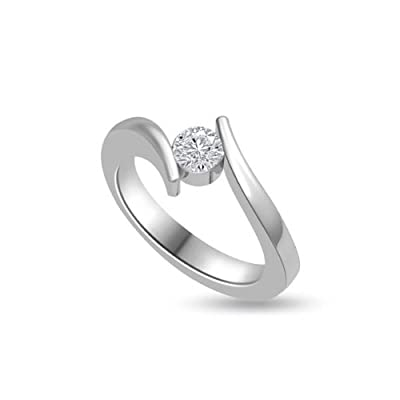 0.25ct G/SI1 Solitaire Diamond Engagement Ring for Women with Round Brilliant cut Diamonds in 18ct White Gold