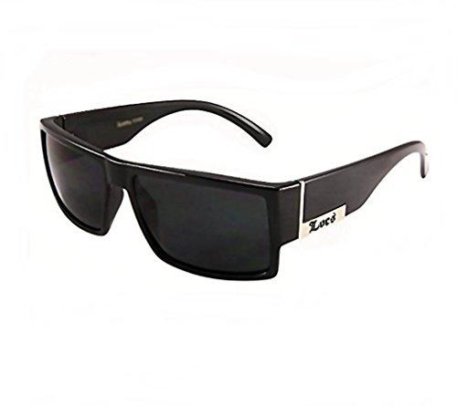 moda Original Locs Hardcore Og Sonnenbrille Super-Dunkel-Objektive 1 56MM Dunkel OSFM Schwarz