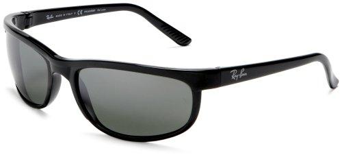 Ray Ban Unisex Sonnenbrille Predator 2, Gr. X-Large (Herstellergröße: 62), Schwarz (Gestell: Schwarz, Gläser: Polarized Grau Verspiegelt 601/W1)