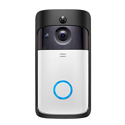 Smart-Home-Wireless-WIFI-Video-TüRklingel - HD-Kamera-Nachtsichtkamera/Video-AufnahmeunterstüTzung TF-Karte MAX 32G FüR Zuhause,C
