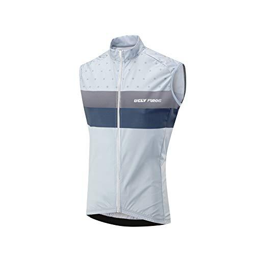 Uglyfrog 2019-2020 Herren Winter Fleece Ärmelloses Männer die Jersey Triathlon Vest Fahrradbekleidung Winter Thermal Warm Rennrad Radweste Besondere Designs -