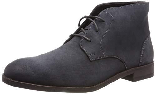 Clarks Herren Flow Top Chukka Boots, Grau (Dark Grey Suede), 45 EU (Clark Boot Wildleder)