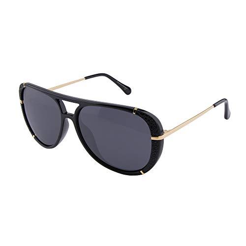 ActiveSol Dione | Polarisierte Sonnenbrille Damen | Design Pilotenbrille Retro modern - groß | polarisiert | 100% UV Schutz | Sonne und Strand | 26 g (Schwarz-Gold)