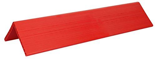 Kerbl 37392 Kantenschutzwinkel, 1.20m Länge, Doppelsteegplatte 19 mm, orange