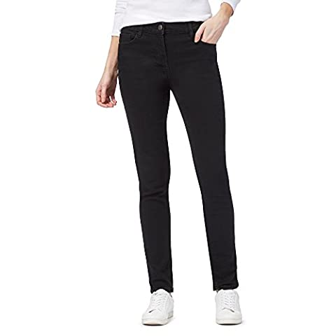 The Collection Womens Mid-Rise Slim Jeans Black 14S