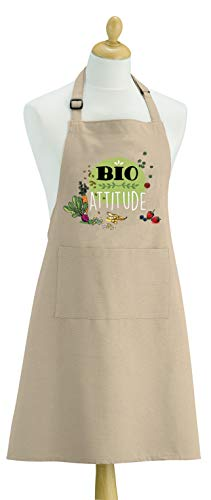 Tablier de cuisine Bio Attitude ficelle 90 x 72 cm Torchons & Bouchons