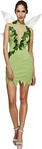 Frauen Fever Magische Fee Kostüm Sexy Tinkerbell Fancy Kleid Lady Pixie Outfit Gr. UK Kleid 36, grün