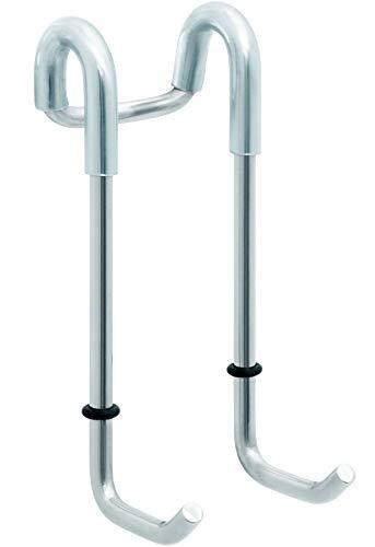 Sanwood 6620194 Duschhaken, Haken für Glasduschwände, Kunststoffummantelt, 11 x 4,6 x 6,1 cm