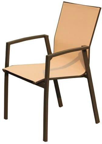Amicasa. sedia da giardino poltrona esterno seduta in tessuto ls-tc711 tortora