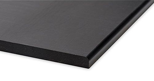 Preisvergleich Produktbild A+H Rammschutz Kantenschutz, Wandschutz aus Hochwertigem PE Kunststoff gegen Beschädigungen durch Schrammen und Dellen, verschiedene Größen, 1000 x 192 x 20 mm, Farbe Schwarz