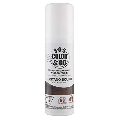 S.O.S Color & Go Spray Temporaneo Ritocco Radici Castano Scuro - 75 Millilitri