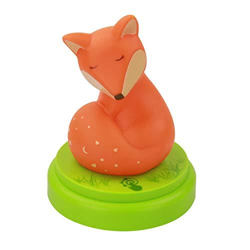 ANSMANN Nachtlicht Fuchs - Süße Einschlafhilfe mit Touch Sensor & Timer - LED Nachtlicht für Baby & Kind ideal als Schlummerlicht Kinderlampe Nachttischlampe Schlaflicht Nachtlampe im Kinderzimmer