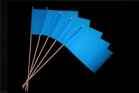 Papierfähnchen: Blau 50er Packung