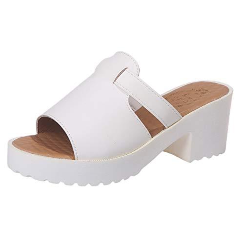 Makefortune 2019 Damen Sandals, Frauen Sandalen Mode Casual Slip On Wedges Dicke Plattformen Schuhe Outdoor Hausschuhe Schuhe Strandschuhe Freizeitschuhe Turnschuhe Hausschuhe (Yeezy 2 Größe 11)
