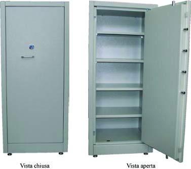 Armoire blindé de sécurité Orem–Coffre-fort–Série PT/LL 160–POSSIBILITA 'de fixation au sol/mural–Dim. mm 700L x P x 1600h–Poids 194kg -