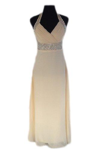 PLAER mode Robe de Halter robe de mariée de mariée Cocktail robe de soirée sexy Champagne