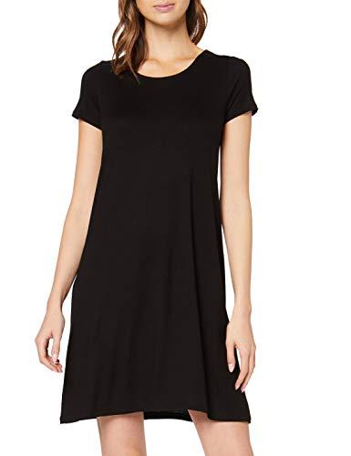 ONLY NOS Damen onlBERA Back LACE UP S/S Dress JRS NOOS Kleid, Schwarz (Black Black), 38 (Herstellergröße: M)