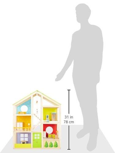 Hape E3401 - Vierjahreszeitenhaus, möbiliert - 11