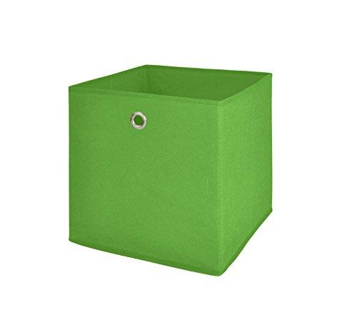 Möbel Akut Faltbox 4er Set in grün, Aufbewahrungsbox für Raumteiler oder Regale