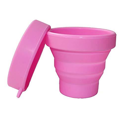 WW-outdoor products Tasse de Camping escamotable Sonline à économie de Place pour Tasse de Voyage Pliable et Pliable (Rose) 1 Paquet de 3