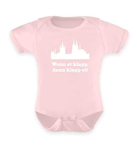 Köln/Kölsch: Wenn et klapp, dann klapp et! - Geschenk Humor - FC - Kölle Alaaf - Kamelle - Baby Body -12-18 Monate-Puder Rosa