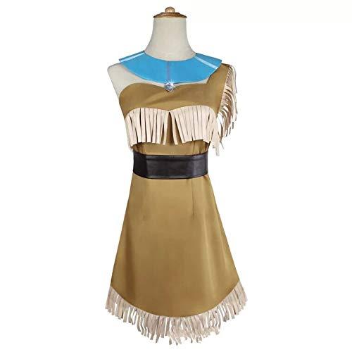Pocahontas Kostüm Für Erwachsene - thematys Pocahontas Indianer Kostüm für Damen - perfekt für Cosplay & Karneval - 4 Verschiedene Größen (S)