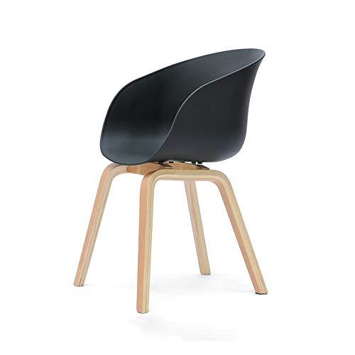 ECSD Maître Conçu Chaise en Bois Massif Jambes Loisirs Chaise Dossier Chaise Personnalité Studio Chaise Chat Chaise (Couleur : Noir)