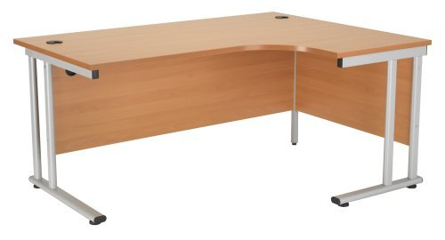 Best Saving for Right Hand Crescent Desk 1600mm, Ergonomic Desk in Beech – Smart Office Furniture Range Special