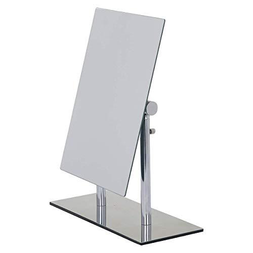 WENKO 3656420100 Kosmetik-Standspiegel Pinerolo - klappbar, Stahl, 23 x 27-35 x 10 cm, Chrom