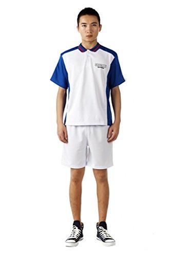 mtxc Herren The Prince of Tennis Cosplay Poster Academy Sommer Tennis Bekleidung, Weiß (Ryoma Echizen Cosplay Kostüm)