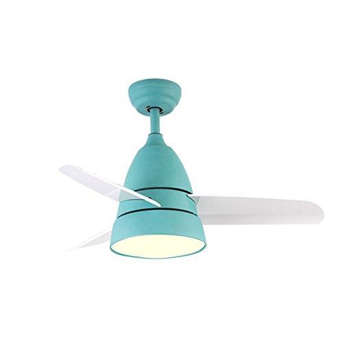 Gydd lampadario luce del soffitto del candeliere luce semplice creativa del ventilatore del soffitto del led semplice nordico per il salone/camera da letto/studio/ingresso (colore : blue-s.)