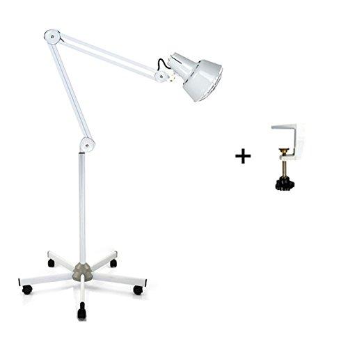 Infrarotlampe Höhenverstellbar. Mit Rädern. 5 RÄDER / Tisch