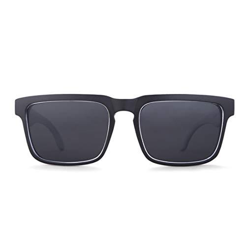 Honneury Klassische schwarz-weiß umrandete Sport-Sonnenbrille UV400 Schutz Fahren Radfahren Laufen Angeln Golf