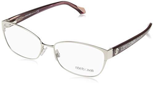 Roberto Cavalli Brillengestelle (Roberto Cavalli Damen Rc5024 016-56-16-140 Brillengestelle, Silber, 56)