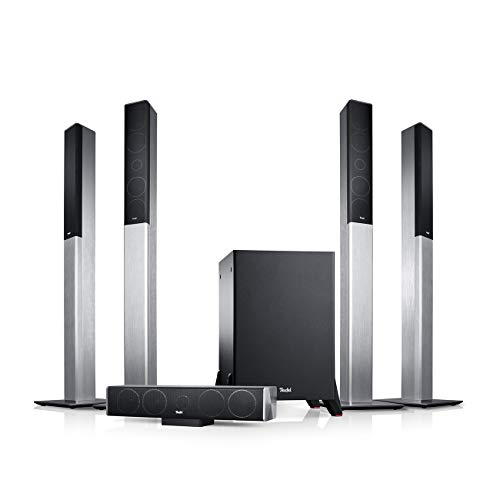 "Teufel LT 4""5.1-Set L Silber Heimkino Lautsprecher 5.1 Soundanlage Kino Raumklang Surround Subwoofer Movie High-End HiFi Speaker"