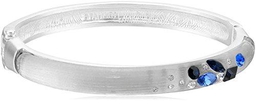 t-tahari-matte-silver-blue-scattered-stone-hinge-bracelet