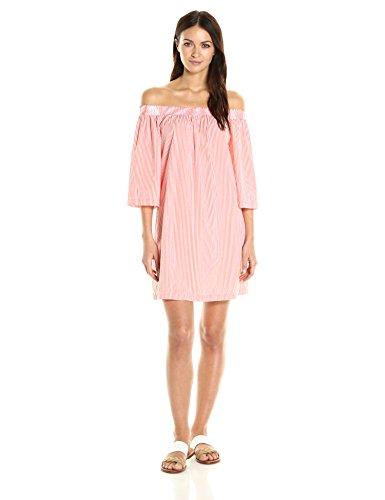 trina-turk-womens-neville-2-striped-shirting-off-the-shoulder-dress-hot-mambo-xs