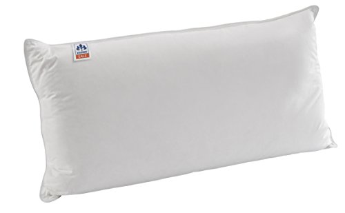 Irisette Dreikammerkissen Daunen-Nackenstützkissen Theo, mit Viscoschaumkern und feinstem Mako-Satin Baumwollbezug, 40 x 80 cm, weiß