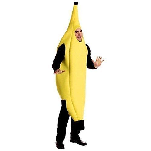 UChic 1 STÜCKE Lustige Sexy Unisex Kostüm Bananenanzug Leichte Halloween Weihnachten Karneval Party Fancy Dress Neuheit Bananenanzug Weihnachtsgeschenk Erwachsene (M Blue Deluxe M's Kostüme &)