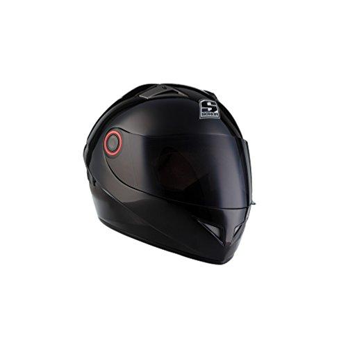 SOXON ST-666 Shiny Night · Motorrad-Helm Cruiser Helmet Urban Sturz-Helm Sport Scooter-Helm Roller-Helm Integral-Helm · ECE zertifiziert · inkl. Sonnenvisier · inkl. Stofftragetasche · Schwarz · S (55-56cm)