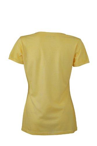 JAMES & NICHOLSON T-shirt Ladies Gipsy - T-shirt de Maternité - Femme Jaune (Light/yellow)