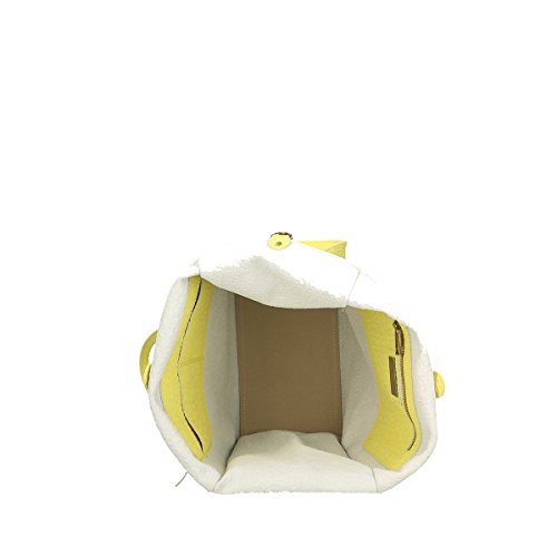 Chicca Borse Borsa a tracolla in pelle 46x34x16 100% Genuine Leather Giallo