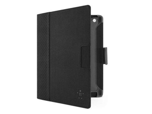 Belkin Cinema Dot Folio Schutzhülle mit Standfunktion für Apple iPad mit Retina-Display (4. Generation) / iPad 3 / iPad 2, Schwarz/Grau grau 10.8 x 8.5 x 0.7 inches (Ipad Belkin 3. Case Generation)