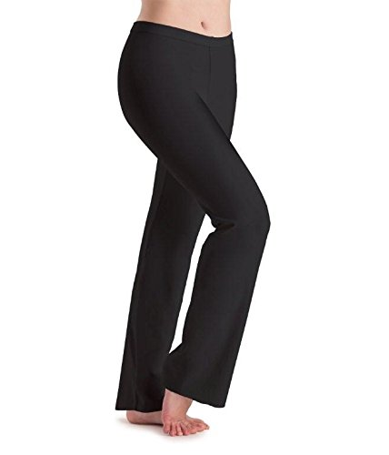 Low-rise-jazz-pant (Motionwear Low Rise Boot Cut Jazz Pants, 7152, Schwarz)